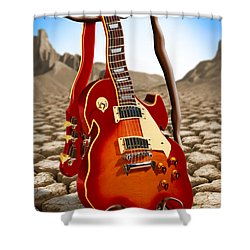 Soft Guitar Shower Curtain