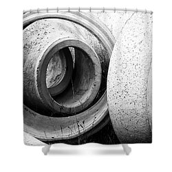 Soft Lines, Hard Surface Shower Curtain