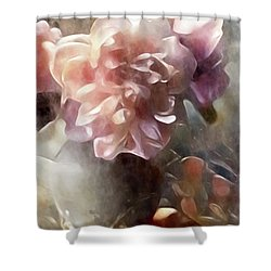 Soft Pastel Peonies Shower Curtain