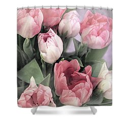 Soft Pink Tulips Shower Curtain