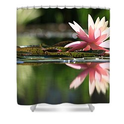 Soft Pink Water Lily Shower Curtain