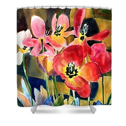 Soft Quilted Tulips Shower Curtain by Kathy Braud