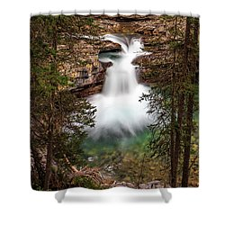 Shower Curtain featuring the photograph Soft Smooth Waterfall by Darcy Michaelchuk