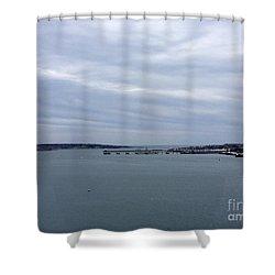 Soft Start, Winter Sunrise Shower Curtain by Patricia E Sundik