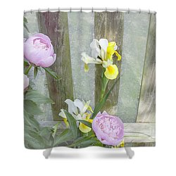Soft Summer Flowers Shower Curtain