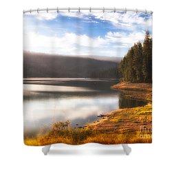 Soft Sunrise Shower Curtain