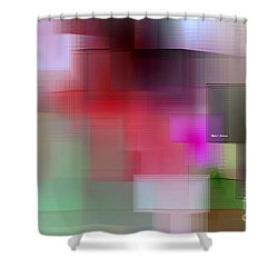 Shower Curtain featuring the digital art Soft View In 3 Stages by Rafael Salazar
