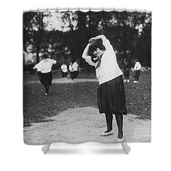 Softball Game Shower Curtain by Granger