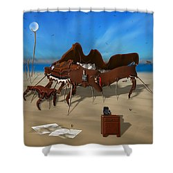 Softe Grand Piano Se Sq Shower Curtain by Mike McGlothlen