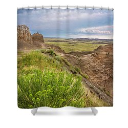 Softly Rumbling Sky Shower Curtain