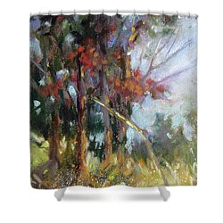 Softly, Softly Shower Curtain by Rae Andrews