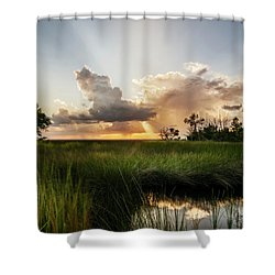 Softly The Evening Came With The Sunset Shower Curtain