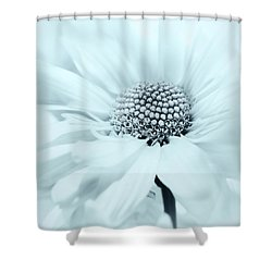 Shower Curtain featuring the photograph Soiree In Powder Blue by Darlene Kwiatkowski