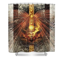 Shower Curtain featuring the digital art SOL by Uwe Jarling