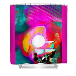 Sol Voyers Shower Curtain by Expressionistart studio Priscilla Batzell