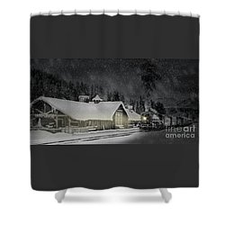 Solace From The Storm Shower Curtain by Brad Allen Fine Art