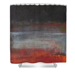 Shower Curtain featuring the painting Solace by Nicole Nadeau