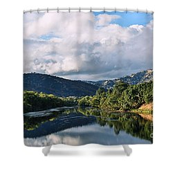 Solano Lake In The Fall Shower Curtain