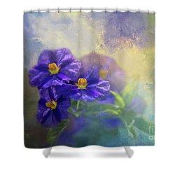 Solanum Shower Curtain by Eva Lechner