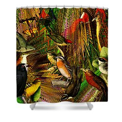 Solar Birds Of Paris Shower Curtain