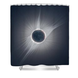 Solar Corona During The Eclipse Of August 21 2017 Shower Curtain