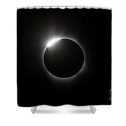 Solar Diamond Ring Shower Curtain