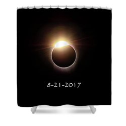 Solar Eclipse Diamond Phase Shower Curtain