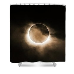 Solar Eclipse II Shower Curtain
