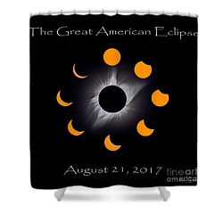 Solar Eclipse Stages Shower Curtain