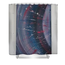 Shower Curtain featuring the painting Solar Flare #1 by Sharyn Winters