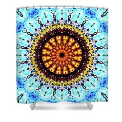 Shower Curtain featuring the digital art Solar Flare 1 by Wendy J St Christopher