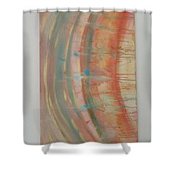 Shower Curtain featuring the painting Solar Flare #2 by Sharyn Winters