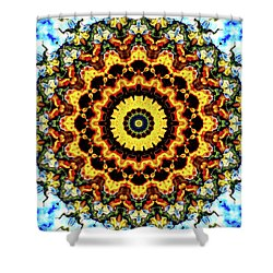 Shower Curtain featuring the digital art Solar Flare 2 by Wendy J St Christopher