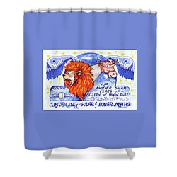 Real Fake News Solar Flare Foto Shower Curtain