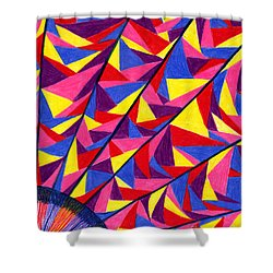 Shower Curtain featuring the drawing Solar Fractals by Kim Sy Ok