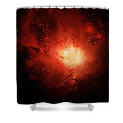 Solar Inferno Shower Curtain by Cynthia Lassiter