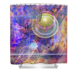 Solar Progression Shower Curtain by John Beck