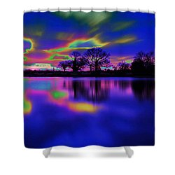 Solar Sunset Shower Curtain