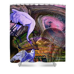 Solar Whisper Winds Of Change Shower Curtain
