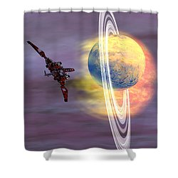 Solar Winds Shower Curtain by Corey Ford