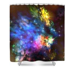 Solaris Nebula Shower Curtain by Corey Ford