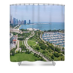 Soldier Field Panorama Shower Curtain