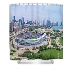 Shower Curtain featuring the photograph Soldier Field by Sebastian Musial