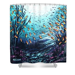 Soldier Fish And Coral  Shower Curtain