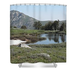 Soldier Lake And Peak Shower Curtain