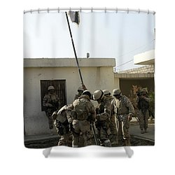 Soldiers From The Iraqi Special Forces Shower Curtain by Stocktrek Images