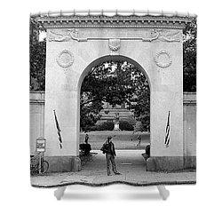 Soldiers Memorial Gate, Brown University, 1972 Shower Curtain