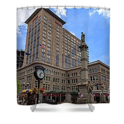Soldiers Monument In Penn Square In Lancaster Pa Shower Curtain