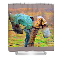 Shower Curtain featuring the photograph Sole Mates by Joe Jake Pratt