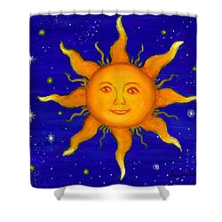 Shower Curtain featuring the painting Soleil by Sandra Estes